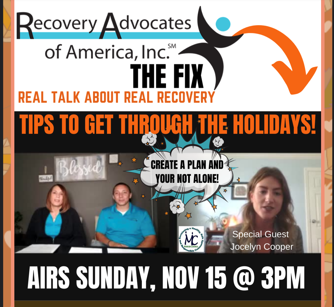 """Stacey, Marc and Jocelyn Talk Navigating Recovery Through the Holidays - Recovery Advocates, """"The Fix"""""""